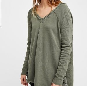 NWOT Free People No Frills Pull Over Sweater